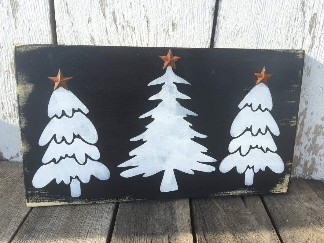 Rustic Christmas Decor - Rustic Christmas Sign - Christmas Trees - Holiday Decor - Holiday Signs - Christmas Sign - Winter Wall Hanging