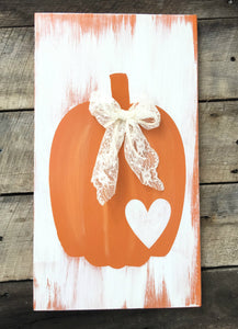 Rustic Fall Pumpkin - Vintage Fall Pumpkin - Pumpkin Sign - Pumpkin Decor - Rustic Fall Decor - Rustic Home Decor - Harvest Decor