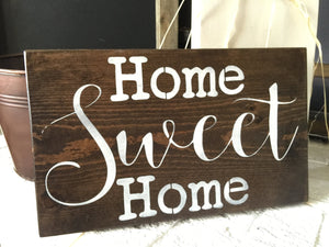 Home Sweet Home Sign - Rustic Wall Hanging - Rustic Home Decor - Wood Decor - Wood Sign - Housewarming Gift - Wedding Gift -