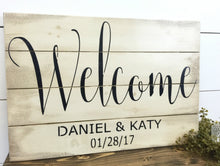 FREE SHIPPING - Rustic Wedding Welcome Sign - Welcome Wedding Sign - Welcome Name Wedding Sign - Vintage Wedding - Rustic Wedding Decor