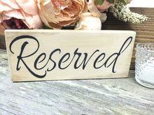 FREE SHIPPING - Set of 6 Wood Reserved Wedding Sign - Reserved Wedding Table Decor - Rustic Reserved Sign - Vintage Wedding - Centerpiece