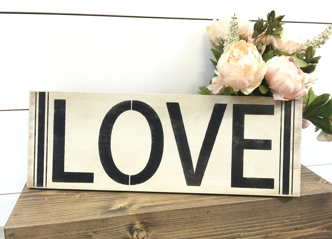Love Sign - Rustic Wedding Sign - Rustic Wedding Decor - Farmhouse Sign - Farmhouse Decor - Rustic Home Decor - Vintage Wood Sign