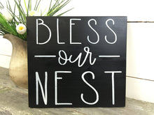 Bless Our Nest Home Sign - Rustic Decor - Farmhouse Decor - Gallery Wall Signs - Rustic Wood Wall Hanging - Cottage Sign - White Sign