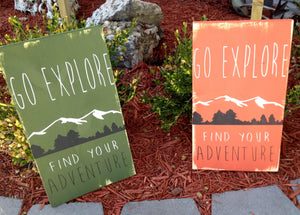 Mountain Sign - Mountain Decor - Mountain Wall Hanging - Find Your Adventure Sign - Adventure Sign - Wood Wall Hanging - Wooden Tree Sign