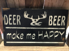 Rustic Wood Sign - Hunting Decor - Beer Sign - Cabin Decor - Rustic Hunting Sign - Wood Sign - Deer Hunting Sign -  Wall Hanging - Man Cave