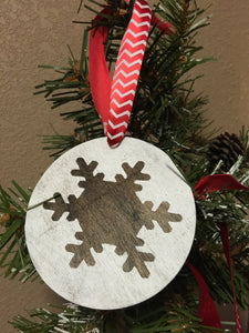 Christmas Ornament - Set of three Christmas ornaments - Wood Ornament - Christmas Decor - Rustic Christmas Ornament - Wood Gift Tag