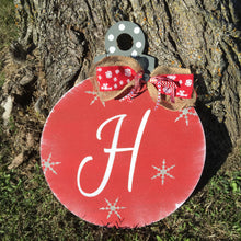 Personalized Christmas Ornament Door Hanger