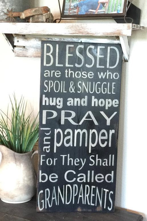 Grandparent Sign - Rustic Wood Sign - Grandparent Wall Hanging - Grandparent Gift - Rustic wall hanging - Blessed wood sign - Grandparents