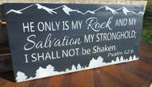 Christian Sign - Christian Wood Sign - Mountain Sign - Wooden Mountain Sign - Mountain Home Decor - Christian Home Decor -Psalm Wall Hanging