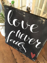 Love Sign - Wedding Sign - Valentines Decor - Rustic Wood Sign - Rustic Wall Hanging - Love Wall Hanging - Love Never Fails - Wedding Decor