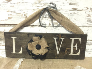 Love Sign - Rustic Love Sign - Rustic Home Decor - Wedding Sign - Rustic Wedding Decor - Valentines Day - Rustic Wall Hanging - Wood Sign
