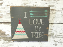 Rustic Wood Sign - Arrow Sign - Arrow Wall Decor - Family Sign - I love my Tribe - Wood Wall Hanging - Arrow Wall Art - Rustic Home Decor