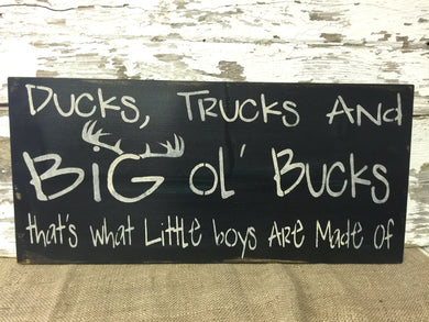 Duck's Trucks And Big Ol' Bucks