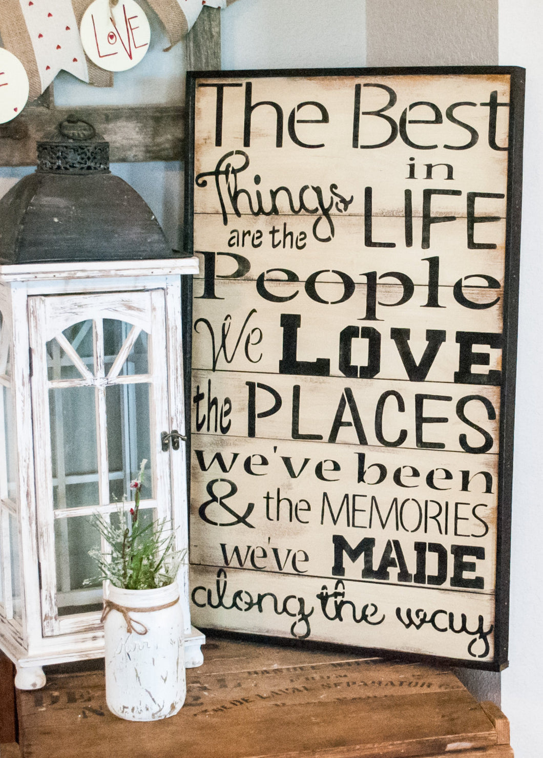 The best things in life rustic Wood Sign - Wood Sign - Rustic Home Decor - Family Sign - Farmhouse sign - Large Wall Art -Wood wall hanging