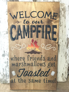 Rustic Decor - Rustic Wood Sign -  Wood Sign - Camping Sign - Outdoor Sign - Country Sign - Rustic Sign - Camping - Friend Sign - Campfire
