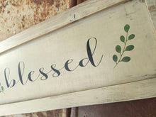 Rustic Wood Sign -  Blessed Sign - Rustic Home decor - Shelf Sitter - Framed Sign - Wooden Wall Hanging - Wood Sign - Hand Painted sign