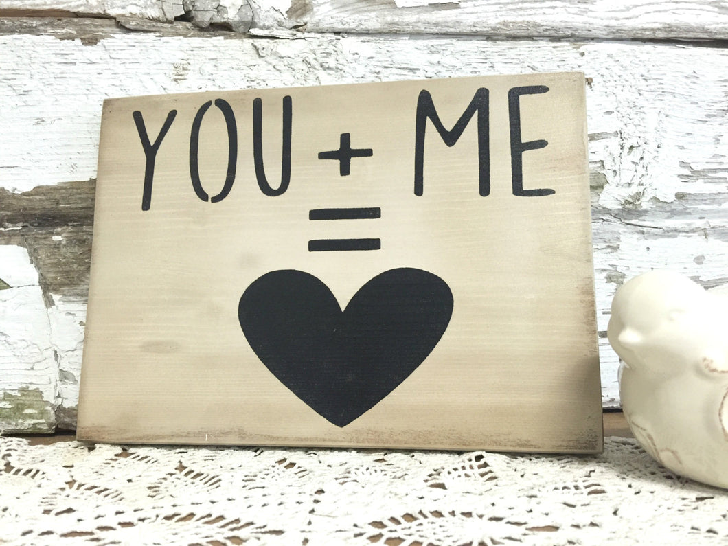 Rustic Wedding sign - Love Sign - Wedding Gift - Gallery Wall Decor - Rustic Wood Sign - Bedroom Decor - Wall Hanging - Hand painted sign