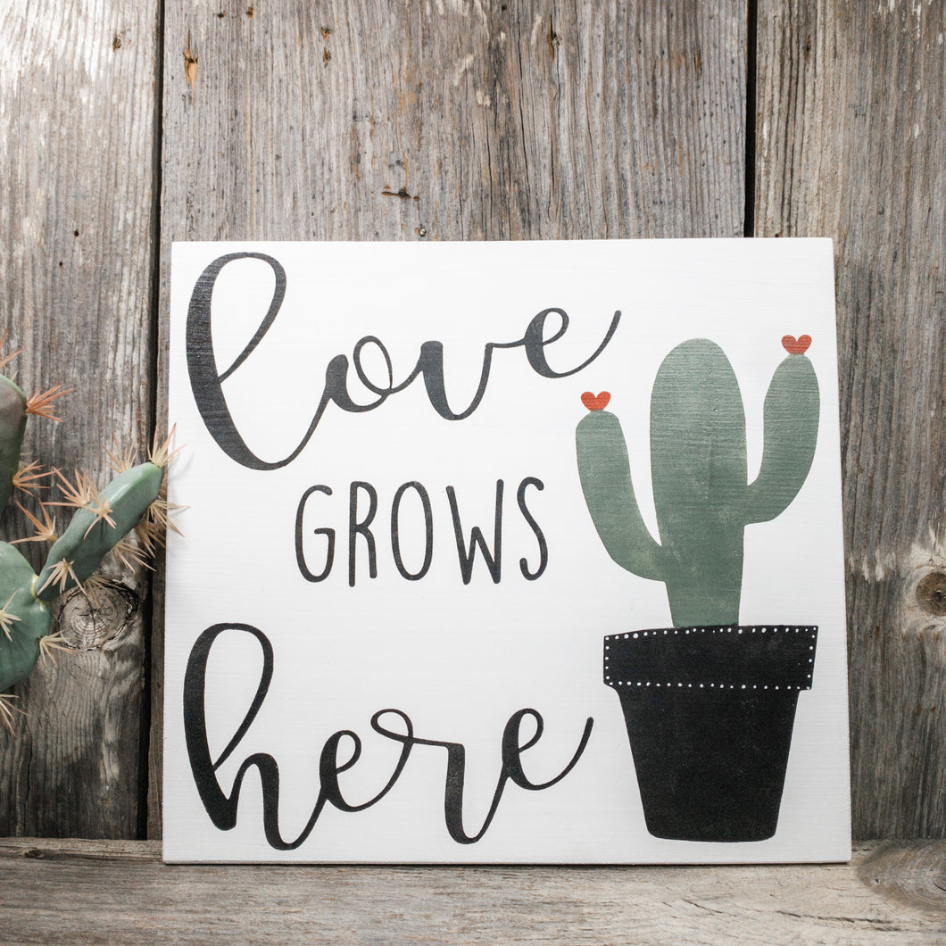 "RBC May - Love Grows Here Sign - 11.25"" x 12"""