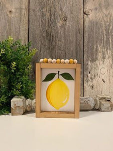 Lemon - Hand painted - Bead Hanger