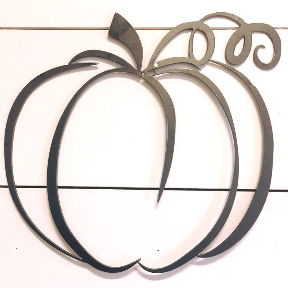 Fall Metal Pumpkin Wall or Door Decor