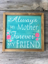 Mother's Day Sign with Hand Painted Flowers