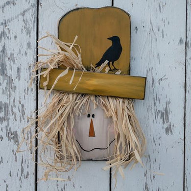 primitive hand painted scarecrow fall porch decor