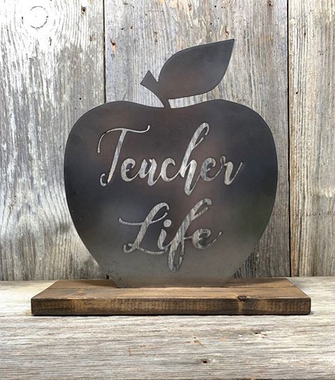 Teacher Life - Apple - Metal Inlay - Interchangeable