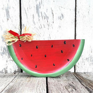 "Watermelon Large 14"" - Hand Painted - Shelf Sitter - Table Decor - Porch - Summer Fruit"