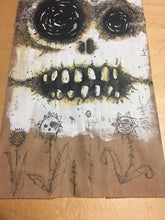 Wicked Ass Skull Sack. Original Acrylic painting on paper bag.