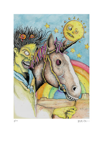 Lux and Unicorn - Limited Edition Print