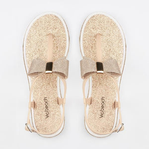 Via Beach Michaela Flat Sandal - Nude