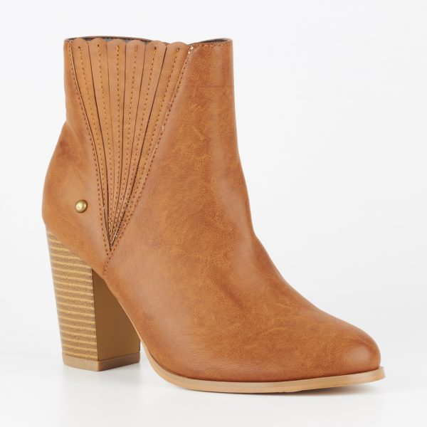 Miss Black Cognac Ankle Boot - Tan