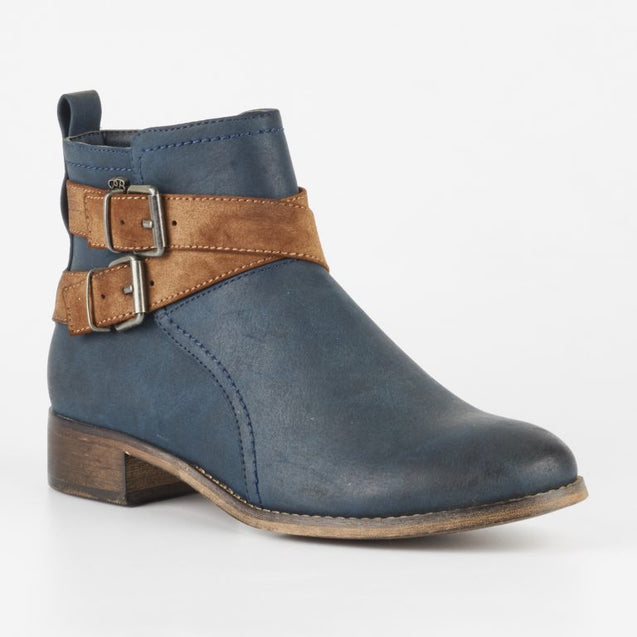 Miss Black Abir 2 Ankle Boots - Navy