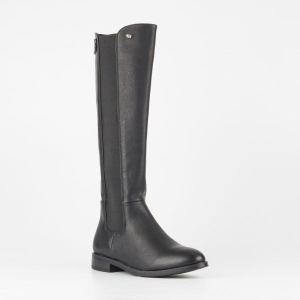 Miss Black Route 66 High Boot - Black