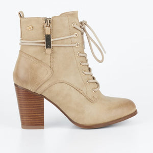 Miss Black Ahlam 2 Ankle Boot - Nude