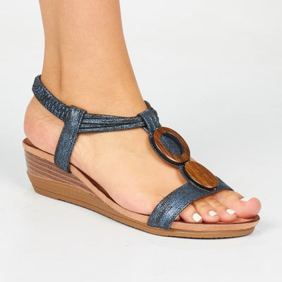 Butterfly Feet Lambodia Mini Wedge - Navy