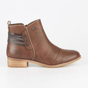 Miss Black Clovis Ankle Boot - Choc