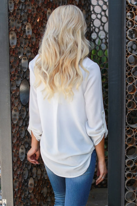White Surrounded By Beauty Blouse