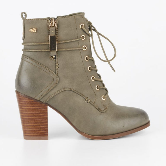 Miss Black Ahlam 2 Ankle Boot - Grey