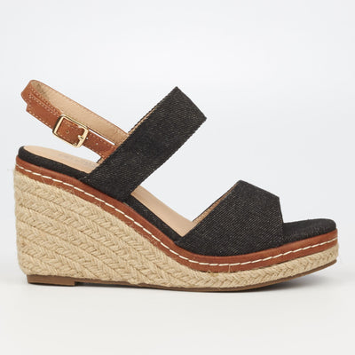 Miss Black Himara Wedge - Black