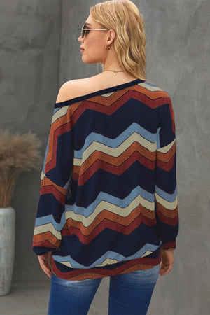 Multicolor Wave Stripes Sweatshirt