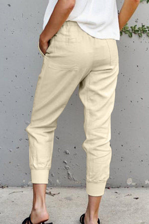 Apricot Causal Pockets Pants