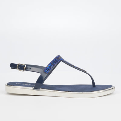 Via Beach Cadence 2 Flat Sandal - Navy