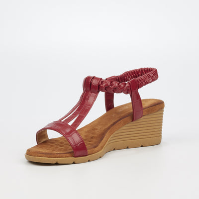 Butterfly Feet Lionel Wedge - Red