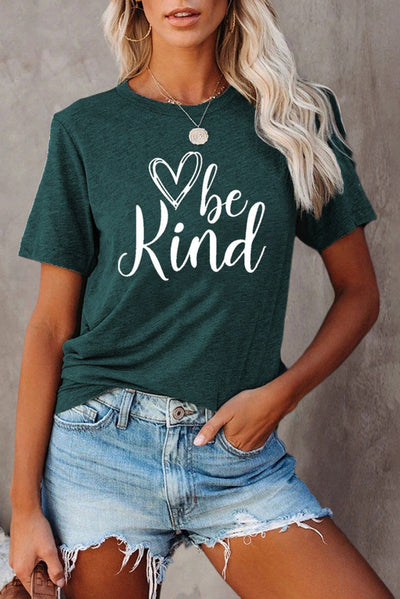 Be kind Graphic Green T-shirt