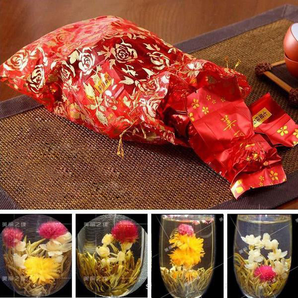 20 Kinds Blooming Tea  Artistic Blossom Flower Tea 150g  Individual Vacuum Package