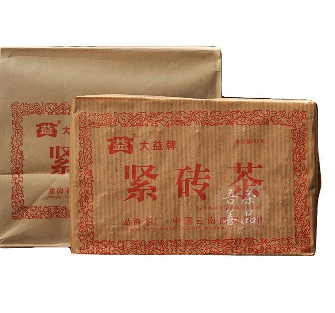2005yr TEATAE Menghai Tea Old Raw Brick Tea 250g
