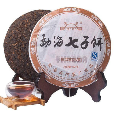 2006yr 357g Yunnan Yunhe Meng Hai Pu'er Tea Smooth Ancient Tree Ripe Tea Y859A-Moylor
