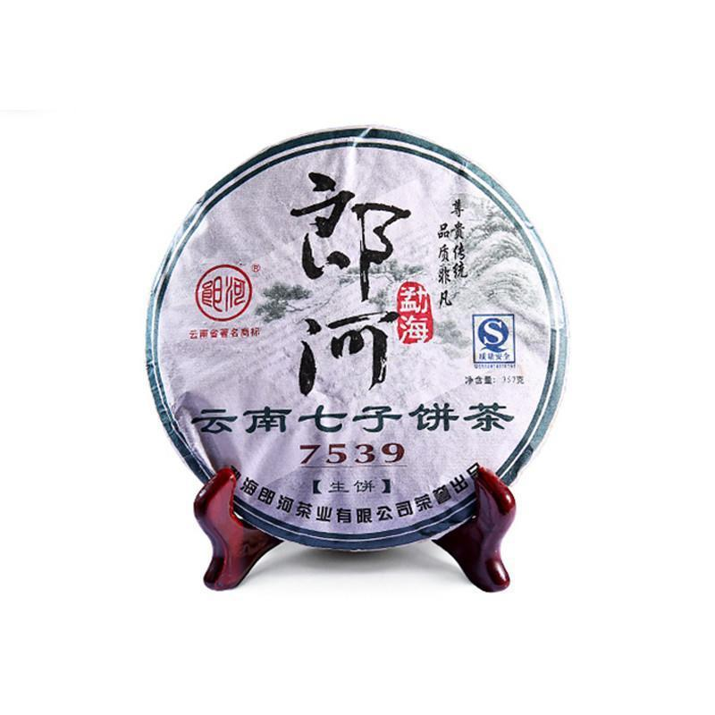 2009 Lang River 7539 Yunnan Pu'er Tea Three Flush Repression Seven Cake Menghai Aged Tea 357g