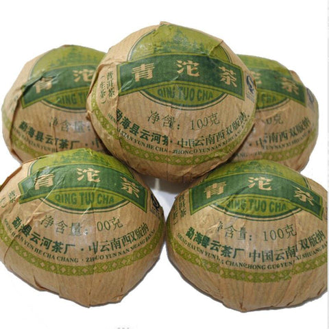 2012 100 g High Quality Raw Puer Tea Health Winter Puer Tuocha Puyu Qingtuo Tea-Moylor